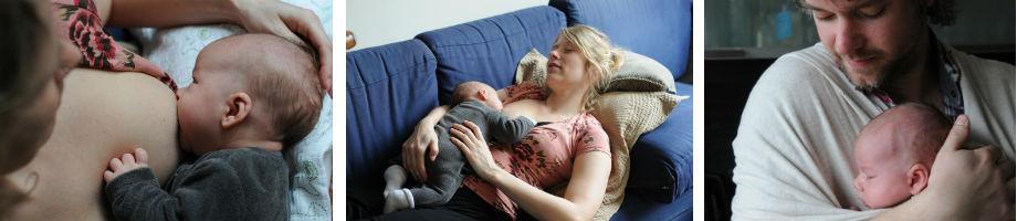 Ouders met pasgeboren baby
